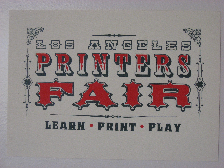 The Los Angeles Printers Fair | Eleanor Glewwe